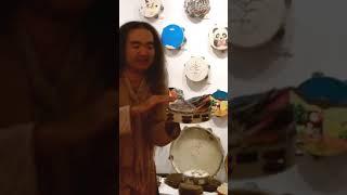 Mr.and Ms.Tanbourine man タンバリン奏者 田島隆さんによる実演