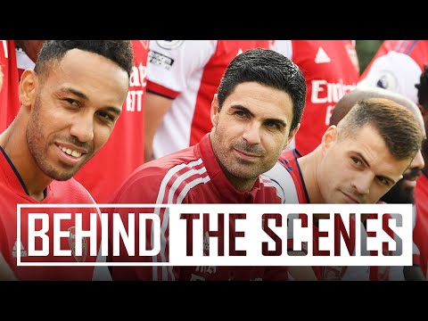 Squad Photo Day!  |  Behind the scenes at the Arsenal training center