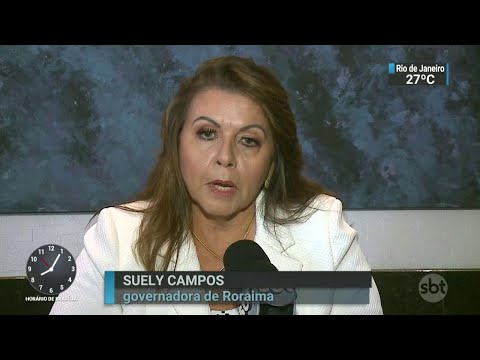 Governadora de Roraima pede fechamento da fronteira com a Venezuela | SBT Brasil (13/04/18)