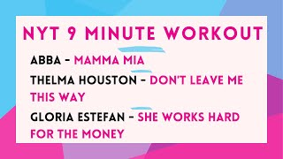 9 Minute Workout - Mamma Mia : Don't Leave Me this Way : She Works Hard For The Money