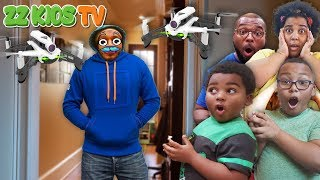 Drone Master Took Over Our House! (Spy Skit With ZZ Kids TV)