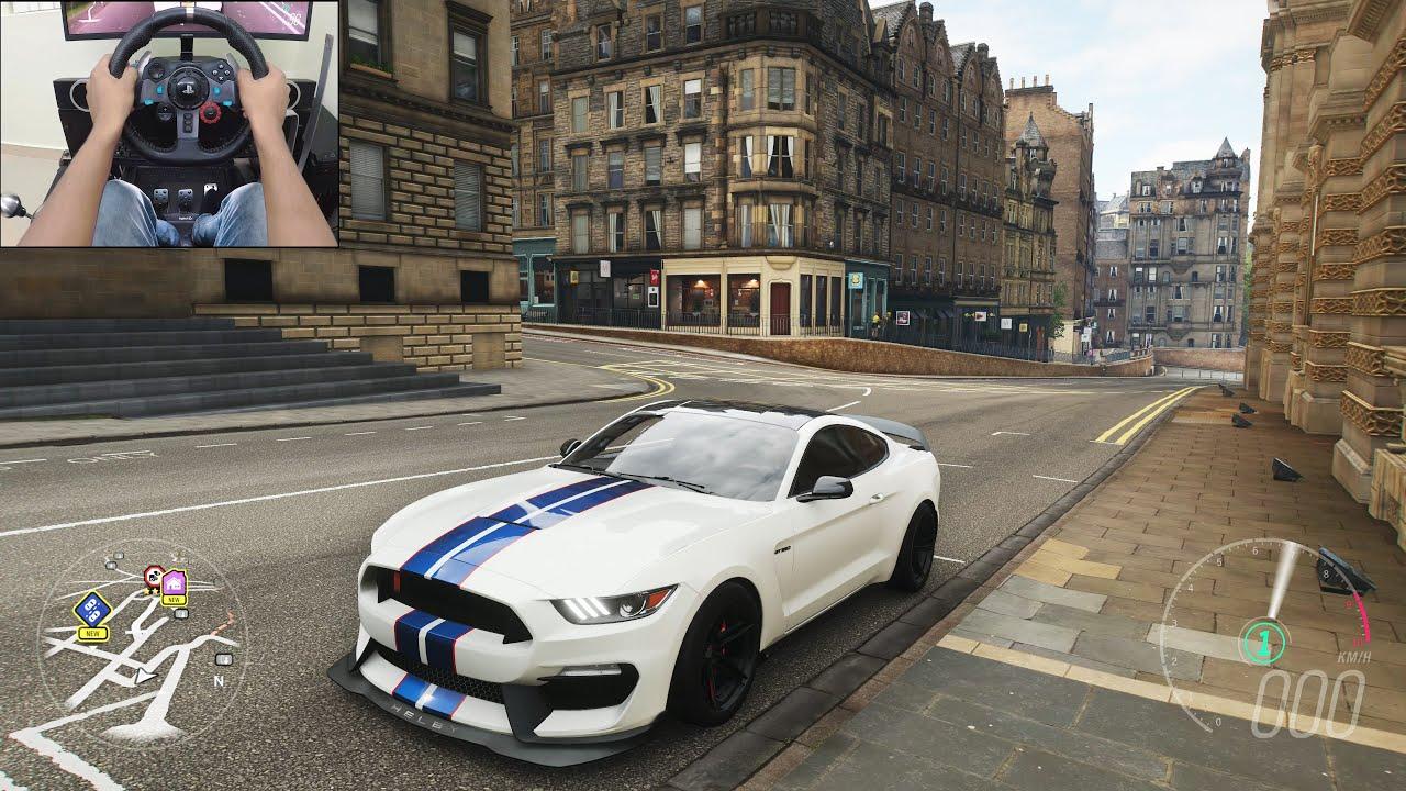 700BHP Shelby Mustang GT350R - Forza Horizon 4 | Logitech g29 gameplay thumbnail