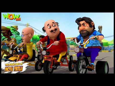 motu-patlu-new-episode-|-hindi-cartoons-for-kids-|-tricycle-race-|-wow-kidz