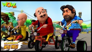 Motu Patlu New Episode | Hindi Cartoons For Kids | Tricycle Race | Wow Kidz