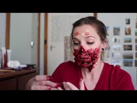 Freakmo's First Filmed Zombie Makeup - 동영상