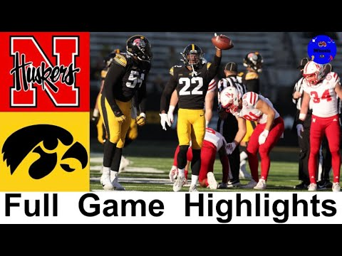 Nebraska vs #24 Iowa Highlights | College Football Week 13 | 2020 College Football Highlights