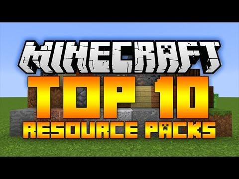 Top 10 Minecraft Resource Packs (Minecraft 1.12/1.11.2) - 2017 [HD]