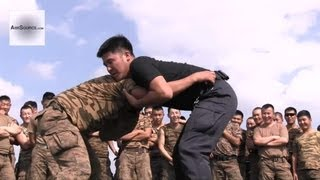 Warm-Up Drills: U.S. Marines & Mongolian Armed Forces in NOLES Exercise