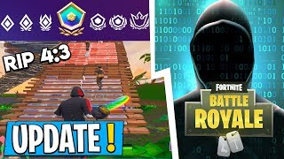 * NEW * Fortnite Update! | Fortnite has been HACKED, MAJOR changes, RIP 4:3