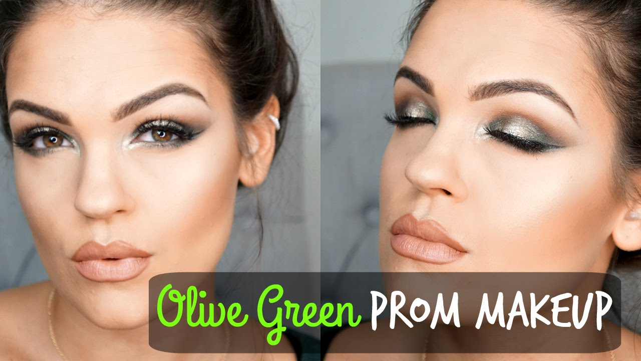 Prom Makeup Tutorial Collab | Olive Green Eyes & Nude Lips