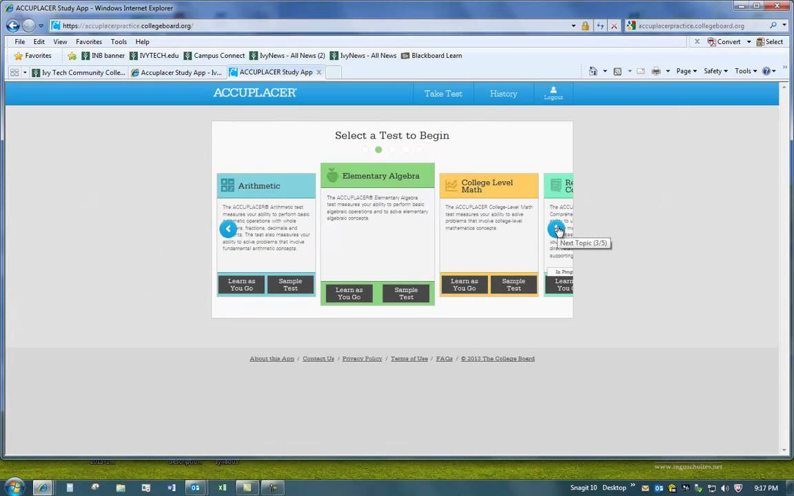 How to take the free Accuplacer practice test - YouTube