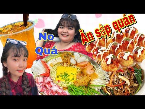 Như ú Tv dẫn Huỳnh Như vlogs ăn sập quán mì cay siêu cay vừa ăn vừa đem về nhà