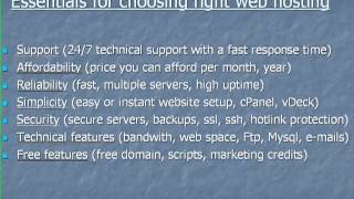 how to choose the best web hosting service - web hosting guide