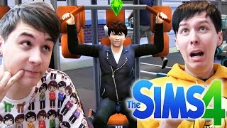 DIL GETS PHYSICAL - Dan and Phil Play: Sims 4 #7