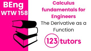 Calculus Fundamentals for Engineers | WTW 158 | The Derivative as a Function by 123tutors