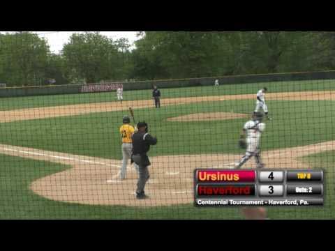 Haverford College Baseball Highlights vs Ursinus (Centennial Conference Playoffs)