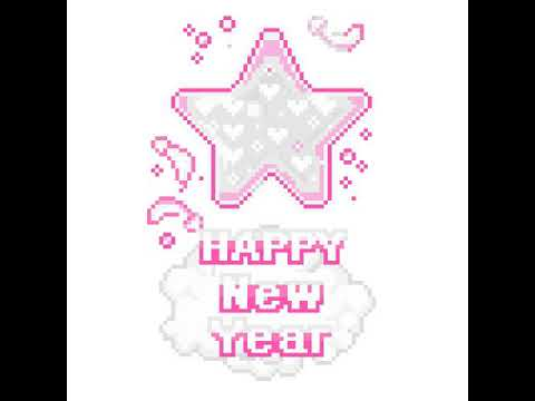 How to make a star with a happy new year's sighn