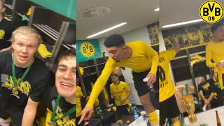 Borussia Dortmund Locker Room Celebrations After Winning The DFB Pokal