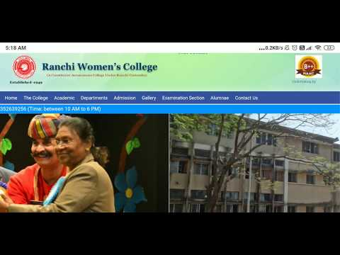 Ranchi Women's College // Introduction For New Students// Women's College Ranchi Ke Bare Me Janye