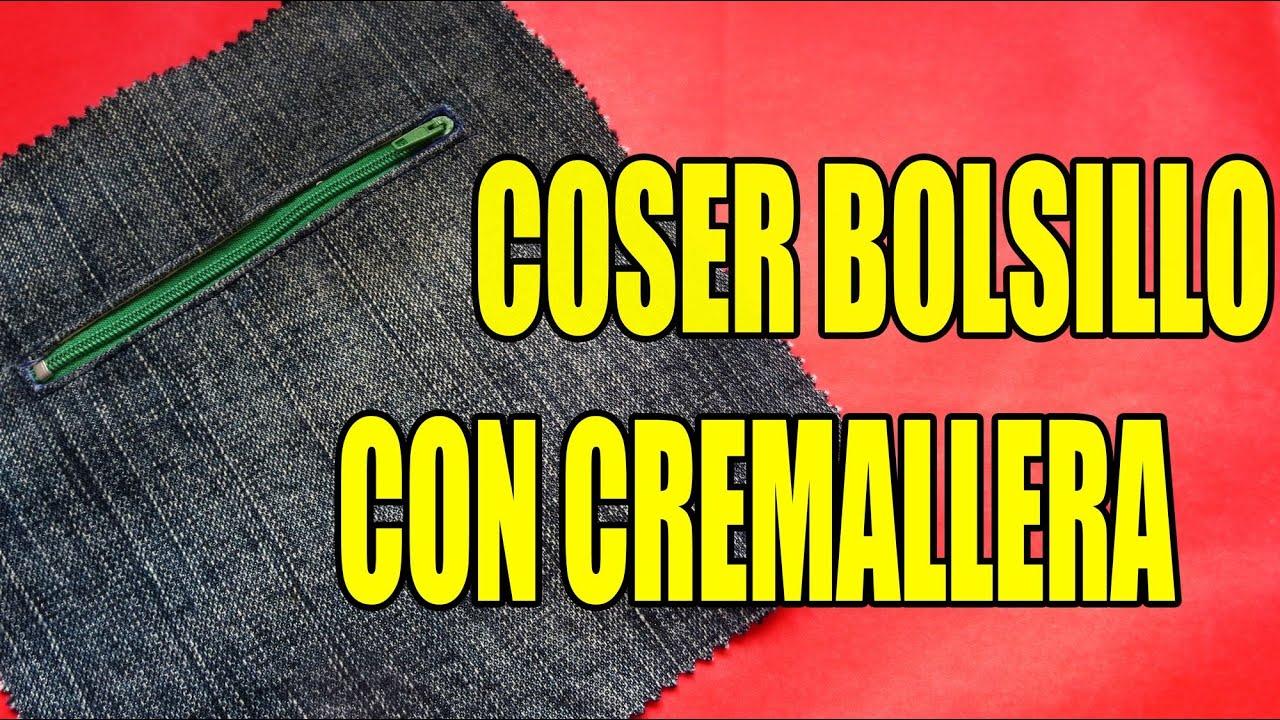 Tutorial bolsillo con cremallera youtube - Colgador de tela con bolsillos ...