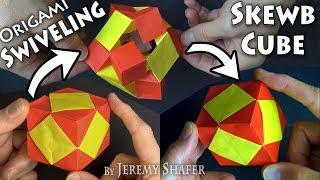 Origami Swiveling Skewb Cube