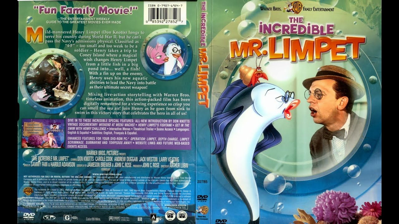 The incredible mr limpet dvd rip