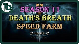 D3 Necromancer Season 11 Death's Breath Farming | Fun build to easily get DB as Necro