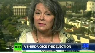 Roseanne Barr says nationalize the banks, just like Iceland, to fix economy