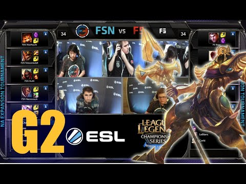 Final Five vs Team Fusion Gaming | Game 2 Round 1 NA LCS Expansion Tournament | F5 vs FSN G2 60FPS