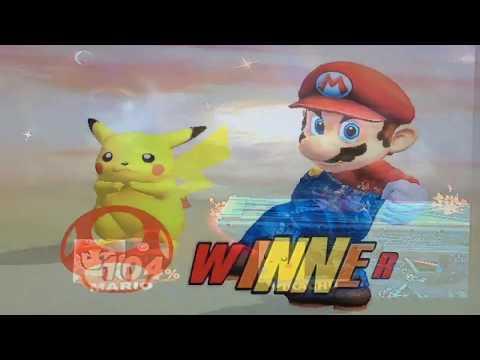 Mario VS Pikachu In SSBB