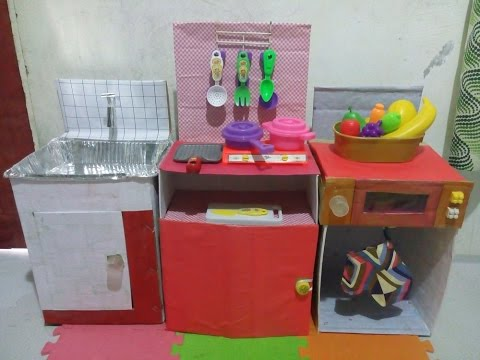 Diy play kitchen set from used boxes youtube diy play kitchen set from used boxes solutioingenieria