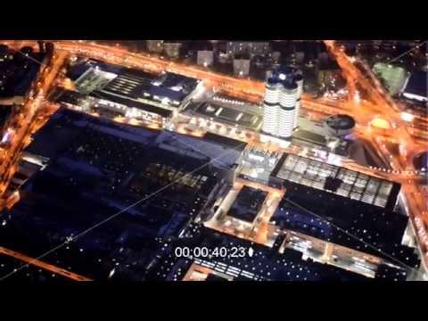 Nachtvideo vom BMW-Werk München im Bundesland Bayern