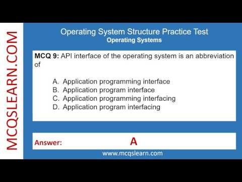 Operating System Structures Practice Test - MCQsLearn Free Videos