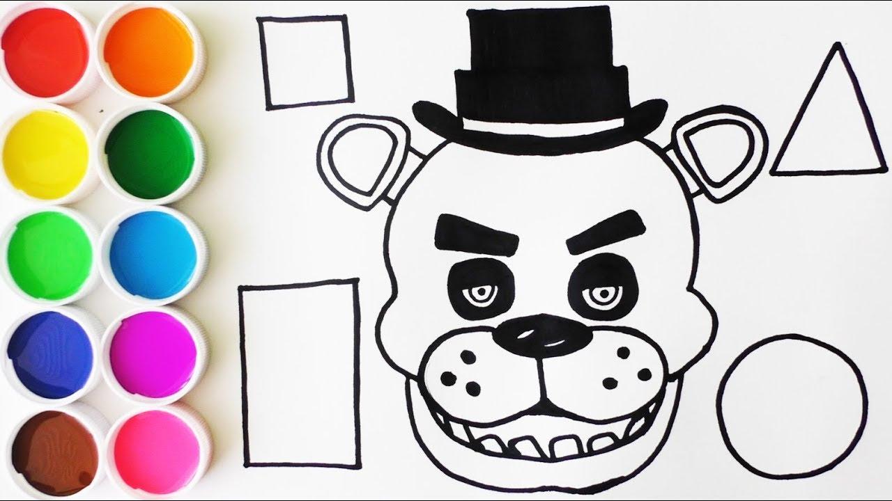 Dibuja Y Colorea A Freddy Y Las Figuras Geometricas Dibujos Para