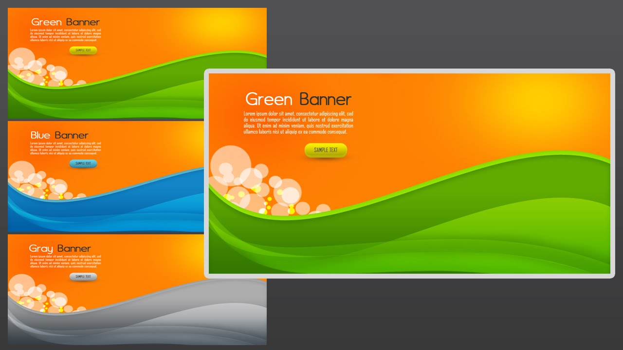 photoshop tutorial web banner abstract youtube