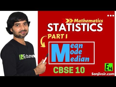 STATISTICS PART 1 - [ MEAN, MODE AND MEDIAN ] MATHEMATICS CBSE CLASS 10 thumbnail
