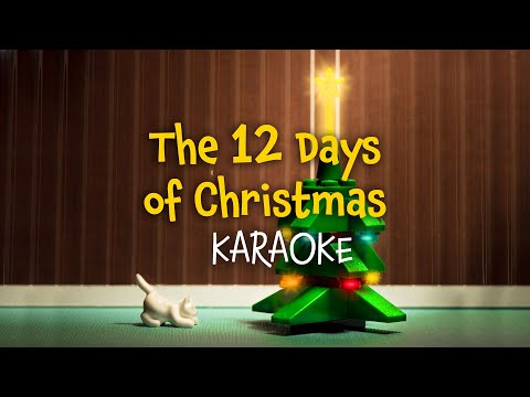 The 12 Days of Christmas instrumental   Christmas Carols  lyrics  for karaoke