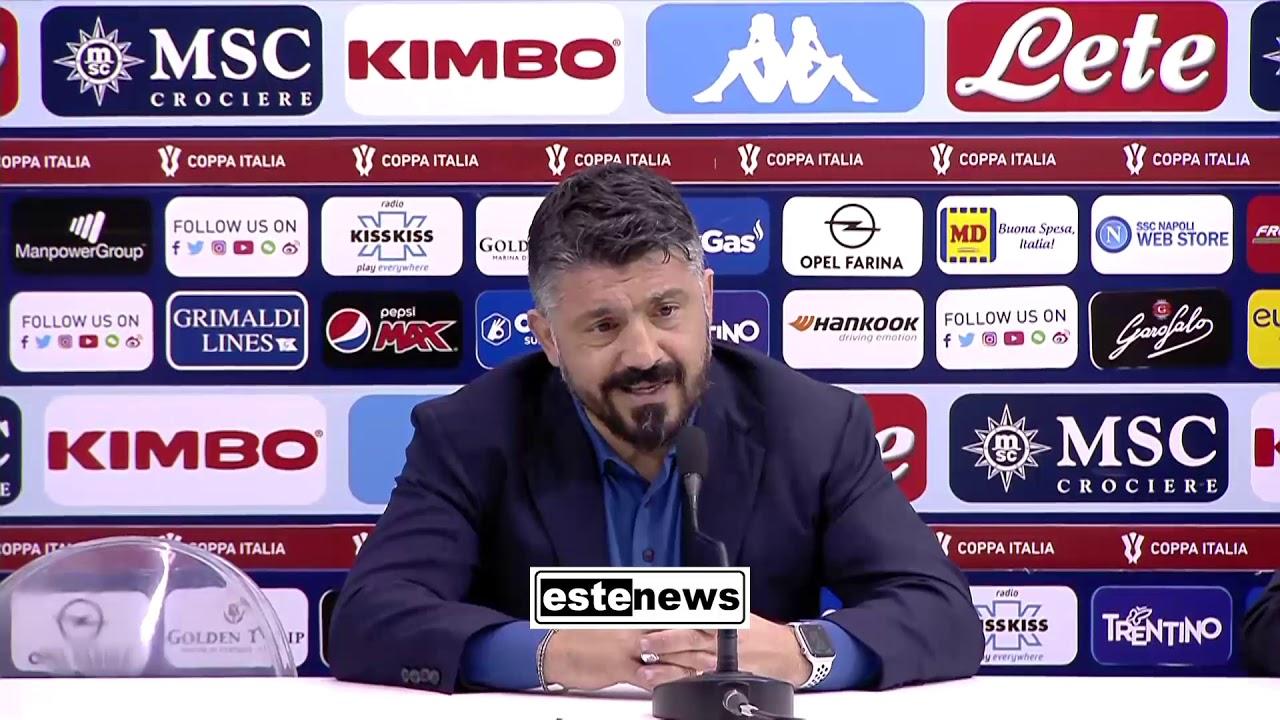 """Napoli-Perugia 2-0, Gattuso sbotta: """"Non rinnego Ancelotti"""