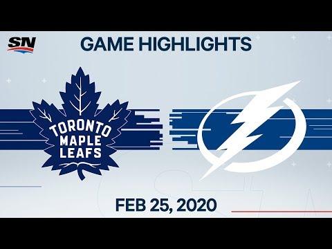 NHL Highlights   Maple Leafs Vs. Lightning – Feb. 25, 2020