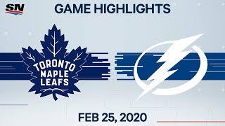 NHL Highlights | Maple Leafs vs. Lightning - Feb. 25, 2020