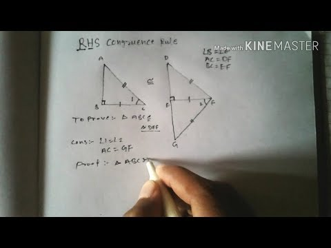 Theorem 7 5 Rhs Congruence Rule Proof Hindi Youtube