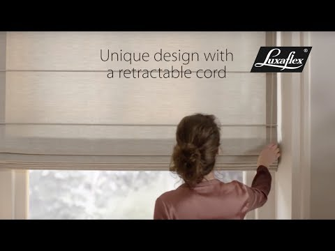 Roman Shades with SmartCord® operation from Luxaflex®