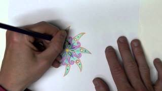 Drawing a Mandala #3 (Sounds Only - No Speaking) for ASMR, Relaxation & Sleep