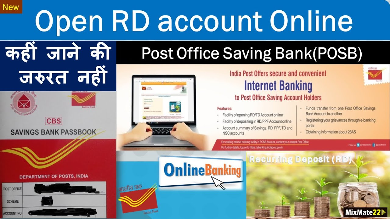 How to open POSB RD account online  (Recurring deposit) Post Office   Internet Banking  India Post