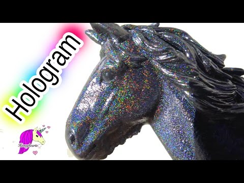 Hologram Rainbow Schleich Mare Horse Custom with Holographic Color Change Spaz Stix Spray Paint