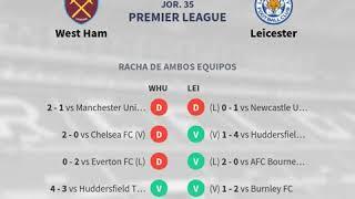 Previa West Ham vs Leicester - Jornada 35 - Premier League 2019 - Pronósticos y horarios