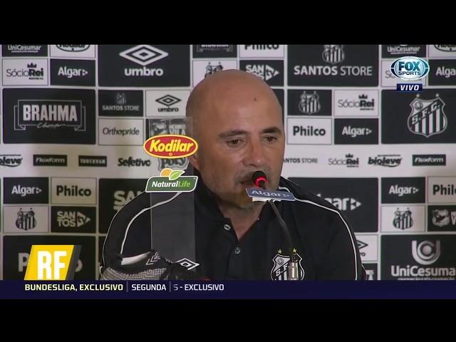 'Temos uma ideia clara': Veja coletiva de Sampaoli após empate entre Santos e Palmeiras