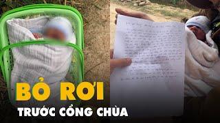Bé trai sơ sinh bị bỏ rơi trước cổng chùa giữa trời giá rét kèm bức thư của mẹ