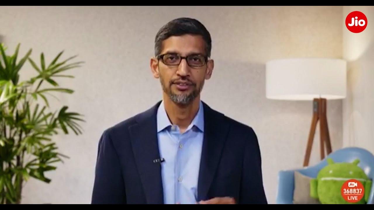 Sundar Pichai talks about the partnership between Jio and Google