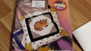 """Вышивка крестиком. Обзор на набор """"Уютный кот"""" от Марьи Искусницы."""